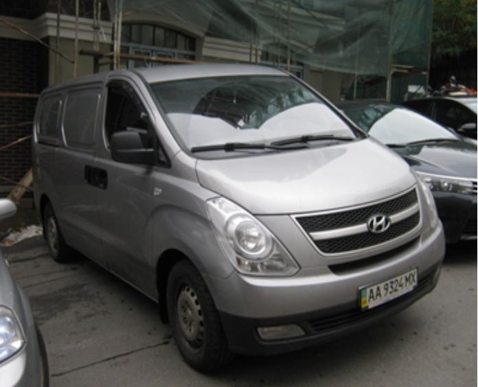 Фургон малотонажний Hyundai H-1, рік випуску 2012, номер державної реєстрації АА9324МХ, номер кузова KMFWBX7KACU459535. Основні засоби в кількості 146 шт.